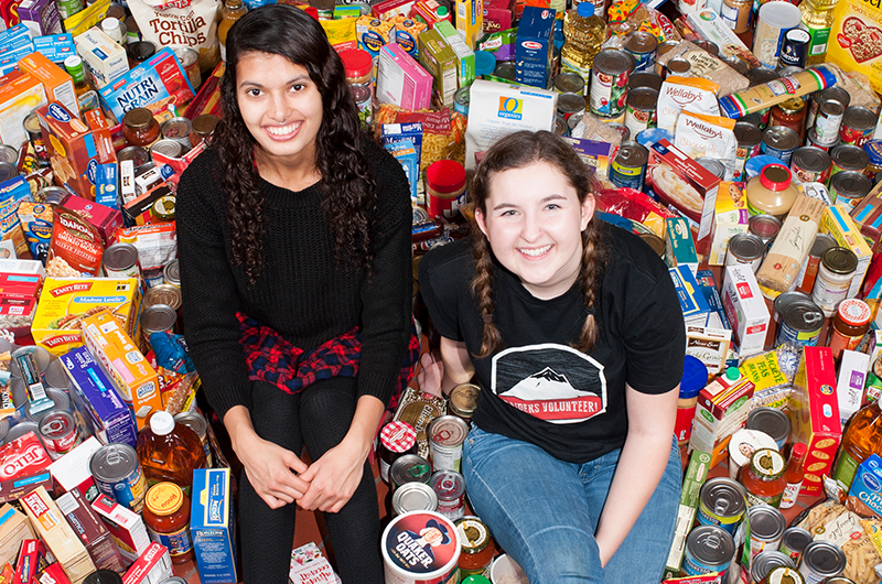 Student Food Drive Two Student