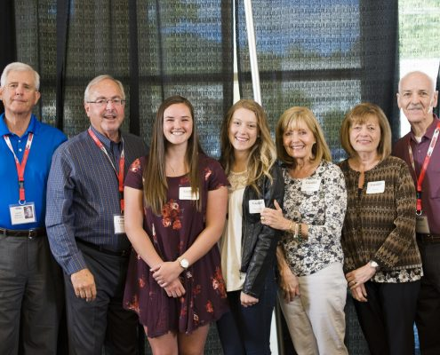 Donors with scholarship recipient